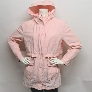 J CREW The Perfect Rain jacket Pink Raincoat M